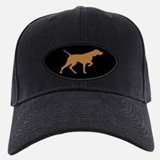 Vizsla Baseball Cap (gold silhouette on black)