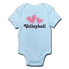 Volleyball Gift Cute Infant Bodysuit