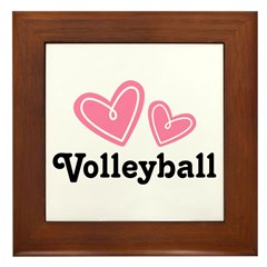 Volleyball Gift Cute Framed Tile