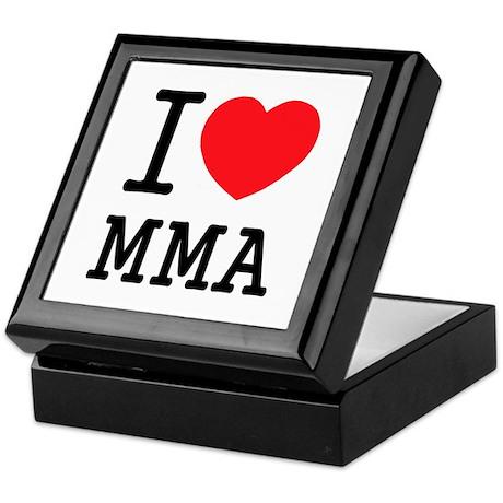 I love MMA Keepsake Box