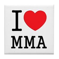 I love MMA Tile Coaster