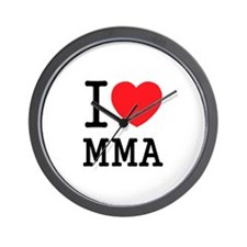 I love MMA Wall Clock