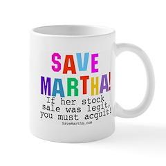 Save Martha Retro you Must Acquit! Mug