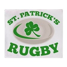 st. patrick's rugby Throw Blanket