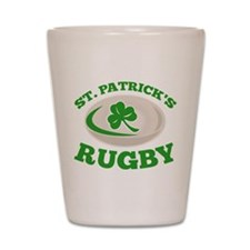 st. patrick's rugby Shot Glass