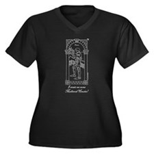 Medieval Hautie! Women's Plus Size V-Neck Dark T-S