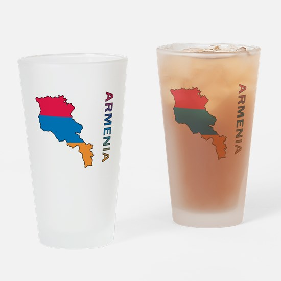 Map Of Armenia Drinking Glass