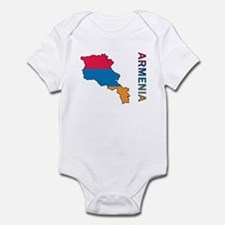 Map Of Armenia Infant Bodysuit