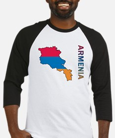 Map Of Armenia Baseball Jersey