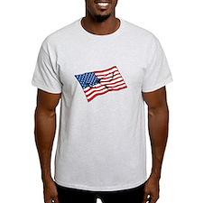 US FLAG & PEACE DOVE T-Shirt Mania Humor