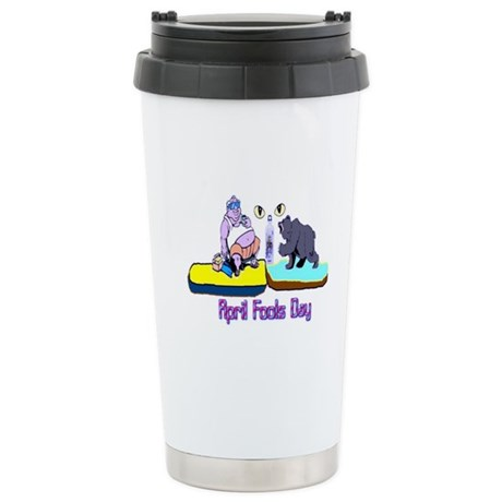 April Fools Day Stainless Steel Travel Mug