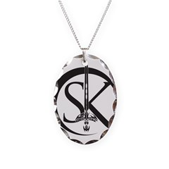 New Section Necklace Oval Charm