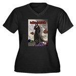 Acheron Women's Plus Size V-Neck Dark T-Shirt