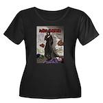 Acheron Women's Plus Size Scoop Neck Dark T-Shirt