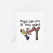 Pigs Fly Greeting Card