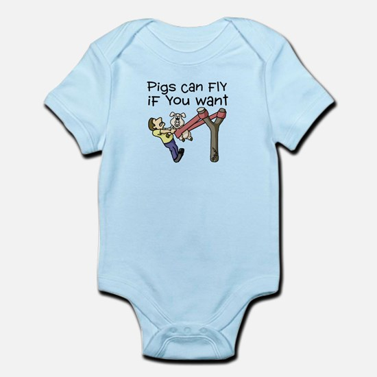 Pigs Fly Infant Bodysuit