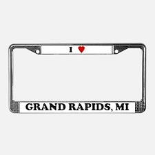 I Love Grand Rapids License Plate Frame