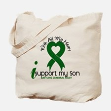 With All My Heart Cerebral Palsy Tote Bag