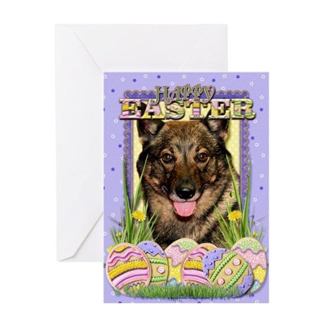 Easter Egg Cookies - Vallhund Greeting Card