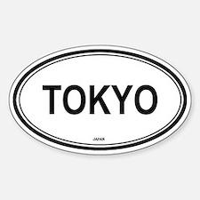 Tokyo, Japan euro Oval Bumper Stickers