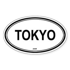 Tokyo, Japan euro Oval Decal