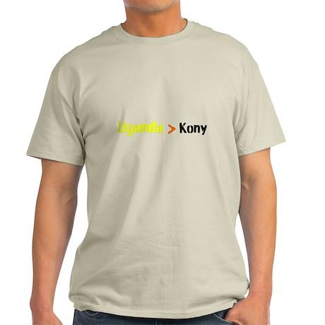 Uganga Greater Than Kony Light T-Shirt