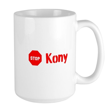 Stop Kony Sign Large Mug