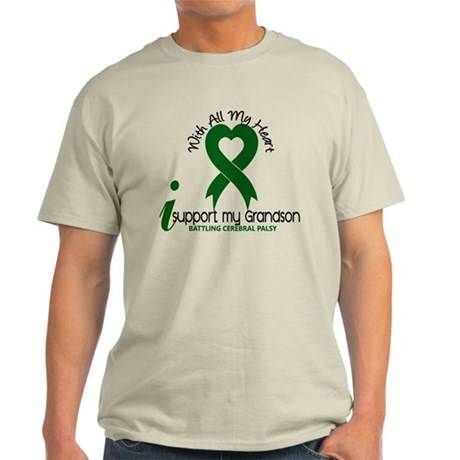 With All My Heart Cerebral Palsy Light T-Shirt