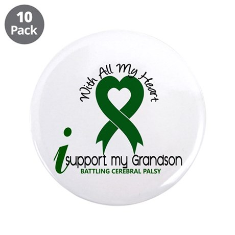 "With All My Heart Cerebral Palsy 3.5"" Button (10 p"