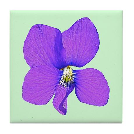 Violet Wildflower Tile Coaster