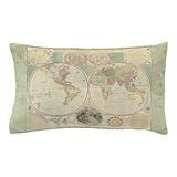 World map pillowcase Bedroom Décor
