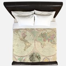 Bowles Antique Map King Duvet Cover