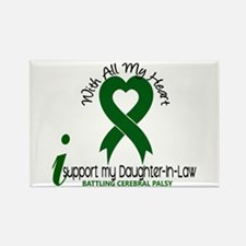With All My Heart Cerebral Palsy Rectangle Magnet