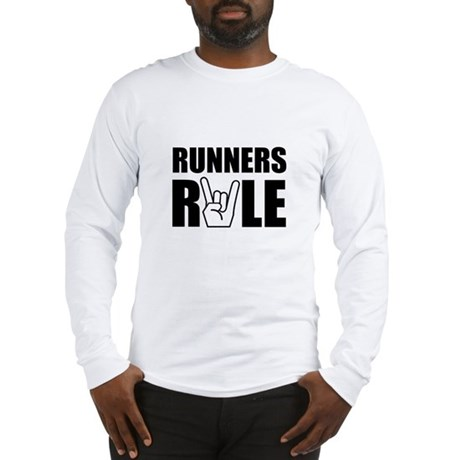 Runners Rule Long Sleeve T-Shirt