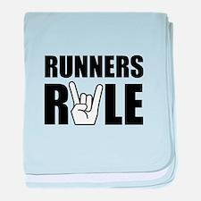 Runners Rule baby blanket