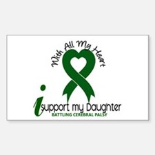 With All My Heart Cerebral Palsy Bumper Stickers
