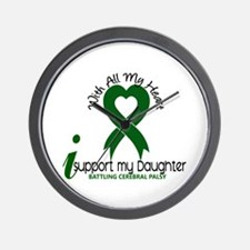 With All My Heart Cerebral Palsy Wall Clock
