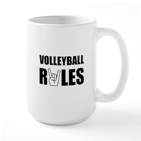 Volleyball Rules Large Mug