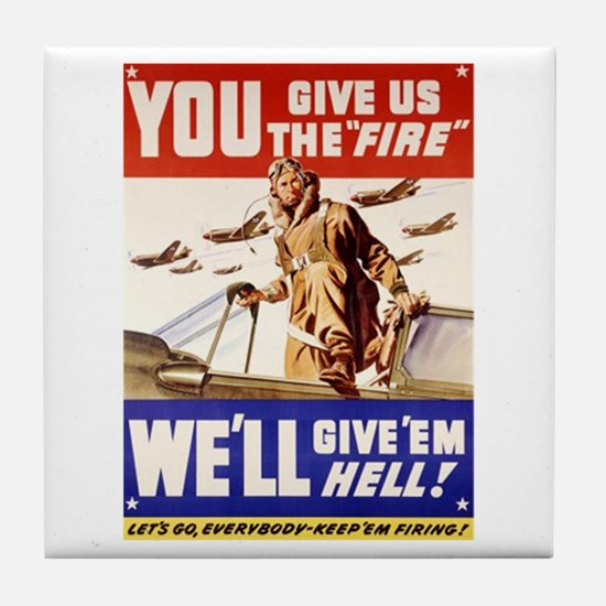 Give'em Hell USAF Tile Coaster
