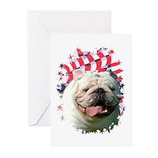 Bulldog 7 Greeting Cards (Pk of 10)
