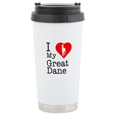 I Love My Great Dane Travel Mug