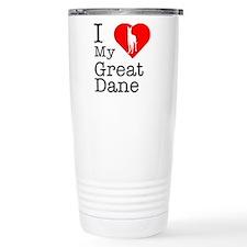 I Love My Great Dane Travel Mug