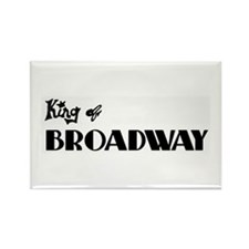 King of Broadway Rectangle Magnet