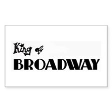 King of Broadway Rectangle Decal