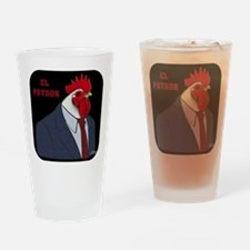 El Patron Rooster Drinking Glass