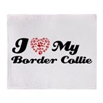 I love my Border Collie Throw Blanket