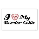 I love my Border Collie Sticker (Rectangle 50 pk)