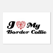 I love my Border Collie Postcards (Package of 8)