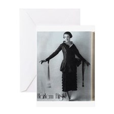 1920s Flapper Girl Greeting Card