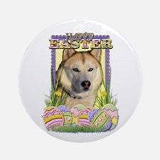Easter Egg Cookies - Husky Ornament (Round)